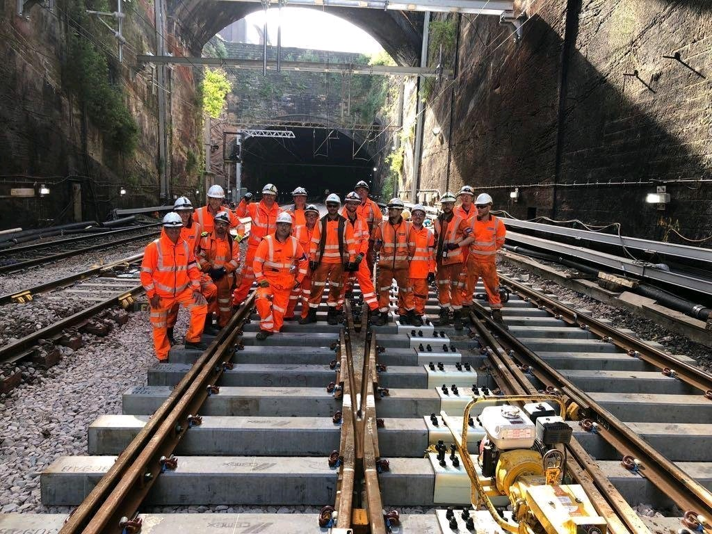 Rail infrastructure cable management project